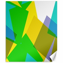 Green yellow shapes        Canvas 20  x 24