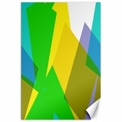 Green yellow shapes        Canvas 20  x 30