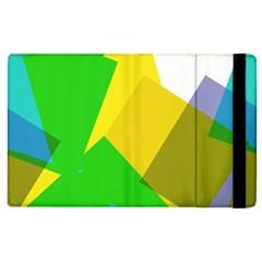 Green yellow shapes  Kindle Fire (1st Gen) Flip Case