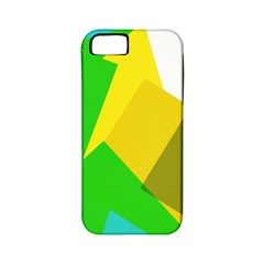 Green yellow shapes  Apple iPhone 4/4S Hardshell Case (PC+Silicone)