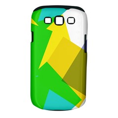 Green yellow shapes  Samsung Galaxy S II i9100 Hardshell Case (PC+Silicone)