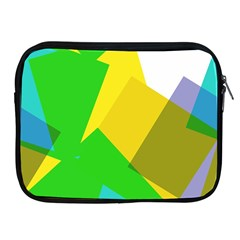 Green yellow shapes  Apple iPad 2/3/4 Protective Soft Case