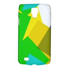 Green yellow shapes  Samsung Galaxy Ace 3 S7272 Hardshell Case