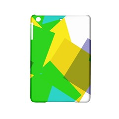Green yellow shapes  Apple iPad Air Hardshell Case