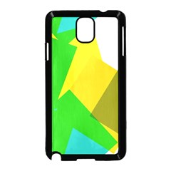 Green yellow shapes  Samsung Galaxy S5 Back Case (White)