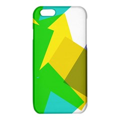 Green yellow shapes  Samsung Galaxy Note 4 Case (Color)