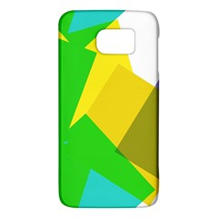 Green yellow shapes  HTC One M9 Hardshell Case