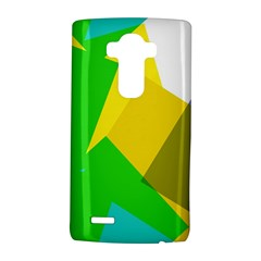 Green yellow shapes  Samsung Galaxy S6 Edge Leather Folio Case