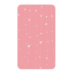 Pink background with white hearts on lines Memory Card Reader