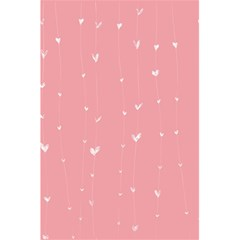 Pink background with white hearts on lines 5.5  x 8.5  Notebooks