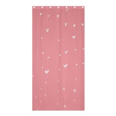 Pink background with white hearts on lines Shower Curtain 36  x 72  (Stall)