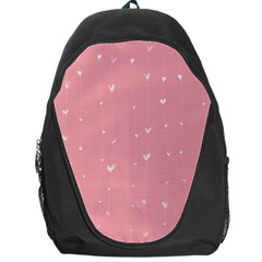 Pink background with white hearts on lines Backpack Bag