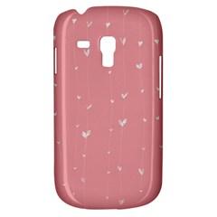 Pink background with white hearts on lines Galaxy S3 Mini