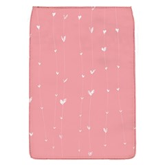 Pink background with white hearts on lines Flap Covers (S)