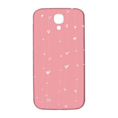 Pink background with white hearts on lines Samsung Galaxy S4 I9500/I9505  Hardshell Back Case