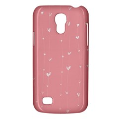Pink background with white hearts on lines Galaxy S4 Mini