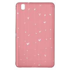 Pink background with white hearts on lines Samsung Galaxy Tab Pro 8.4 Hardshell Case