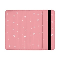 Pink background with white hearts on lines Samsung Galaxy Tab Pro 8.4  Flip Case