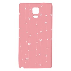 Pink background with white hearts on lines Galaxy Note 4 Back Case