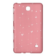 Pink background with white hearts on lines Samsung Galaxy Tab 4 (8 ) Hardshell Case