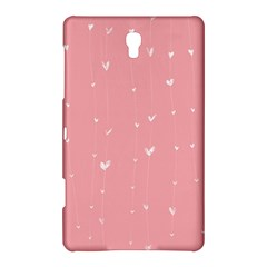 Pink background with white hearts on lines Samsung Galaxy Tab S (8.4 ) Hardshell Case