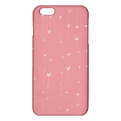 Pink background with white hearts on lines iPhone 6 Plus/6S Plus TPU Case