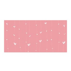 Pink background with white hearts on lines Satin Wrap