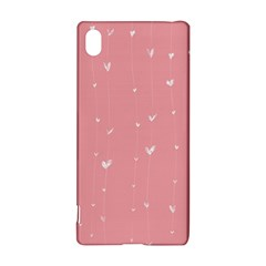 Pink background with white hearts on lines Sony Xperia Z3+