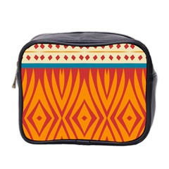 Shapes in retro colors       Mini Toiletries Bag (Two Sides)