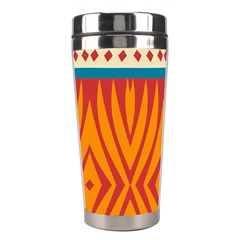 Shapes in retro colors       Stainless Steel Travel Tumbler
