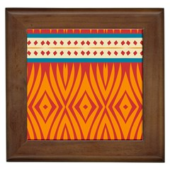 Shapes in retro colors       Framed Tile