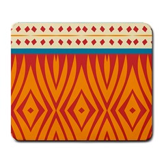 Shapes in retro colors       Large Mousepad
