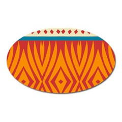 Shapes in retro colors       Magnet (Oval)
