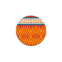 Shapes in retro colors       Golf Ball Marker
