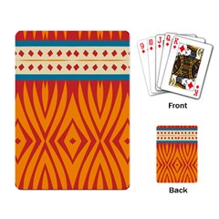Shapes in retro colors       Playing Cards Single Design