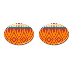 Shapes in retro colors       Cufflinks (Oval)