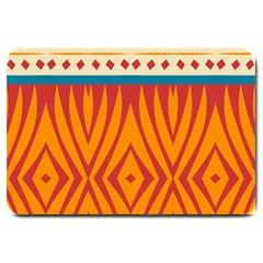 Shapes in retro colors       Large Doormat