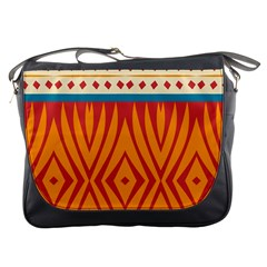 Shapes in retro colors       Messenger Bag