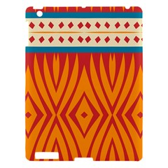 Shapes in retro colors Apple iPad 3/4 Hardshell Case
