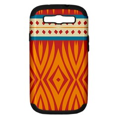 Shapes in retro colors Apple Seamless iPhone 5 Case (Color)