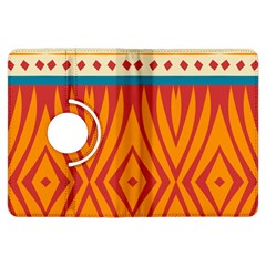 Shapes in retro colors Kindle Fire HD (2013) Flip 360 Case