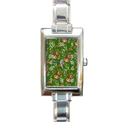 Sunny Garden I Rectangle Italian Charm Watch