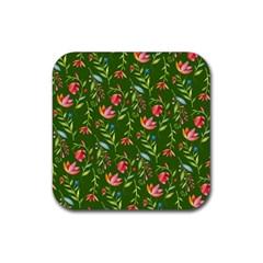 Sunny Garden I Rubber Coaster (square)