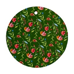 Sunny Garden I Round Ornament (two Sides)