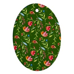 Sunny Garden I Oval Ornament (two Sides)