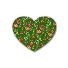 Sunny Garden I Rubber Coaster (heart)