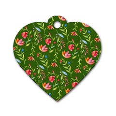 Sunny Garden I Dog Tag Heart (two Sides)