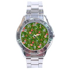 Sunny Garden I Stainless Steel Analogue Watch