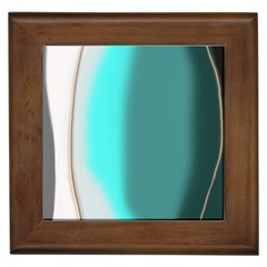 Turquoise Abstract Framed Tiles