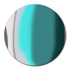 Turquoise Abstract Round Mousepads